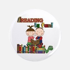 "Reading is Fun 3.5"" Button"