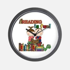 Reading is Fun Wall Clock