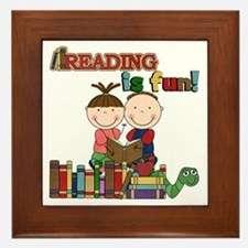 Reading is Fun Framed Tile