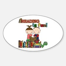 Reading is Fun Sticker (Oval)