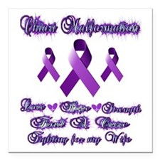 "Fighting Chiari for my W Square Car Magnet 3"" x 3"""