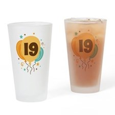 19th Birthday Party Drinking Glass