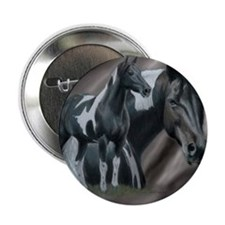 """Pinto Horse 2.25"""" Button"""