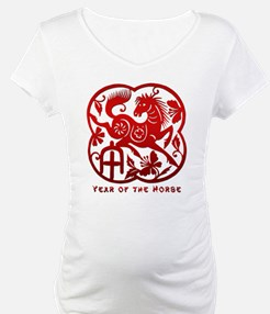 Chinese Papercut Year of The Horse Shirt