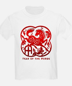 Chinese Papercut Year of The Horse T-Shirt