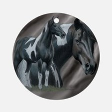 Pinto Horse Ornament (Round)