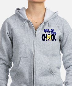 ALS Messed With Wrong Chick Zip Hoodie
