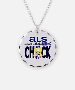 ALS Messed With Wrong Chick Necklace