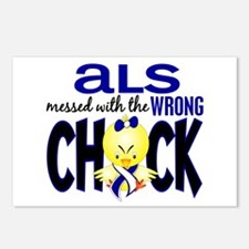 ALS Messed With Wrong Chick Postcards (Package of