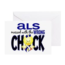 ALS Messed With Wrong Chick Greeting Card