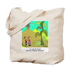 Jack and The Bean Stalk Use Fertilizer Tote Bag