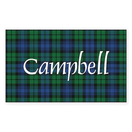 Tartan - Campbell Sticker (Rectangle)