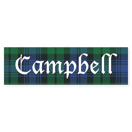 Tartan - Campbell Sticker (Bumper)