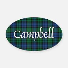 Tartan - Campbell Oval Car Magnet