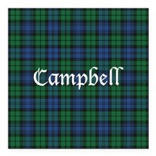 "Tartan - Campbell Square Car Magnet 3"" x 3"""
