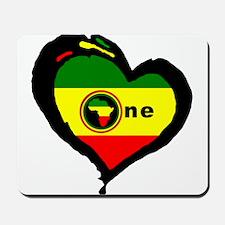 Afrika Rasta Heart I Mousepad