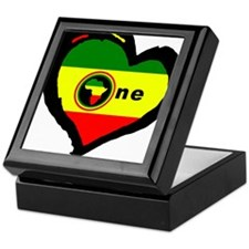 Afrika Rasta Heart I Keepsake Box