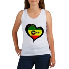 Afrika Rasta Heart I Women's Tank Top