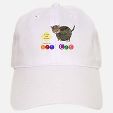 Fat Cat licks the butter Baseball Baseball Cap