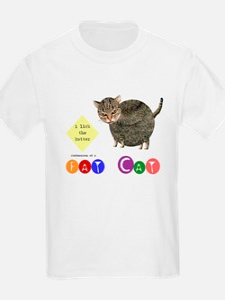 Fat Cat licks the butter Kids T-Shirt