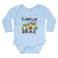 Frogs Science Rocks Long Sleeve Infant Bodysuit