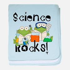 Frogs Science Rocks baby blanket