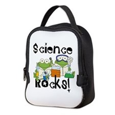 Frogs Science Rocks Neoprene Lunch Bag