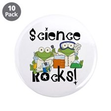 """Frogs Science Rocks 3.5"""" Button (10 pack)"""