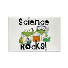 Frogs Science Rocks Rectangle Magnet