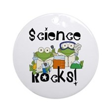 Frogs Science Rocks Ornament (Round)