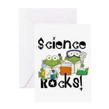 Frogs Science Rocks Greeting Card