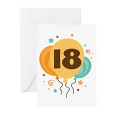 18th Birthday Party Greeting Cards (Pk of 10)
