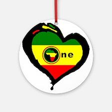 Afrika Rasta Heart I Ornament (Round)