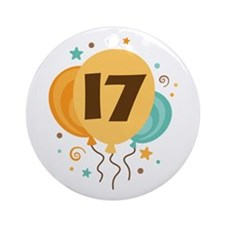17th Birthday Party Ornament (Round)