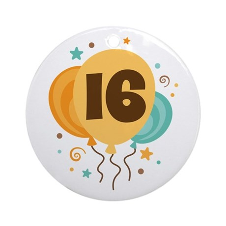 16th Birthday Party Ornament (Round)