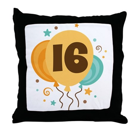 16th Birthday Party Throw Pillow