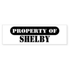 Property of Shelby Bumper Bumper Sticker