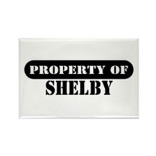 Property of Shelby Rectangle Magnet