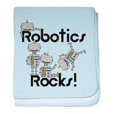 Robotics Rocks baby blanket