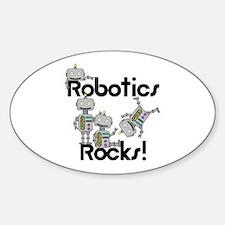 Robotics Rocks Sticker (Oval)