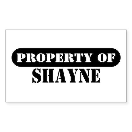 Property of Shayne Rectangle Sticker