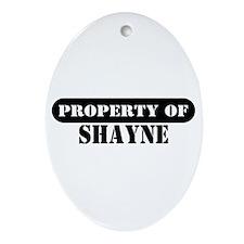 Property of Shayne Oval Ornament