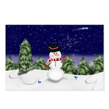 Snowman Scene (GC) Postcards (Package of 8)