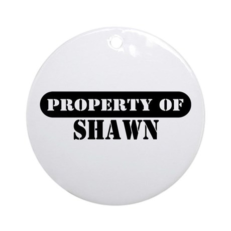 Property of Shawn Ornament (Round)
