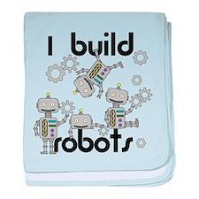 I Build Robots baby blanket