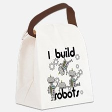 I Build Robots Canvas Lunch Bag