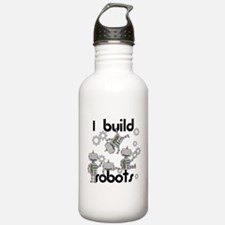 I Build Robots Water Bottle