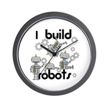 I Build Robots Wall Clock
