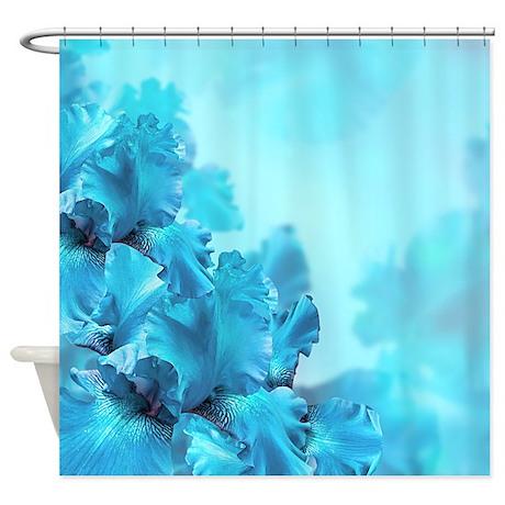 Blue Flowers Shower Curtain By Bestshowercurtains