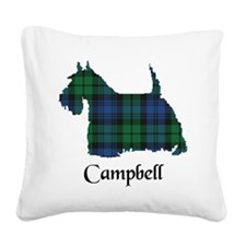 Terrier - Campbell Square Canvas Pillow